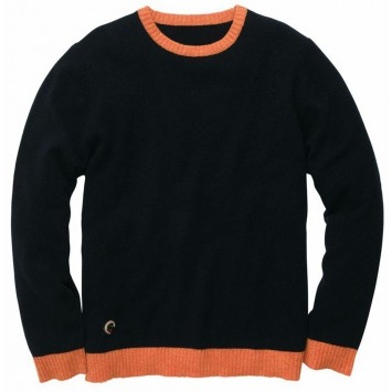 Let-Her Sweater - Navy / Orange